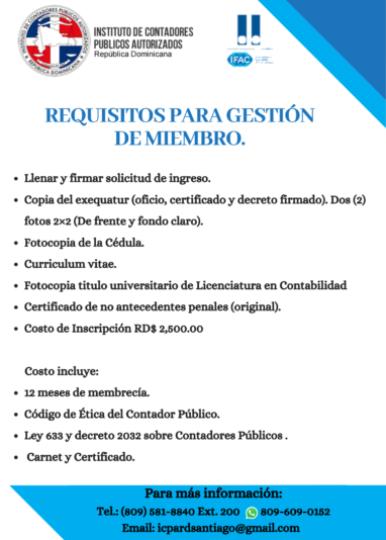 Requisitos para Gestión de Miembros