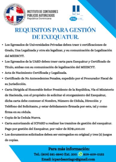 Requisitos para Gestión de Exequatur