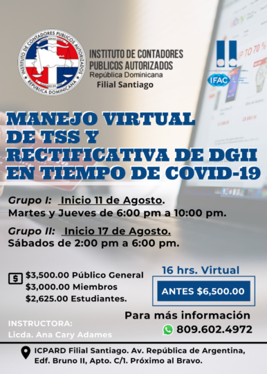 Manejo Virtual de TSS y Rectificativa de DGII en tiempo de COVID-19.